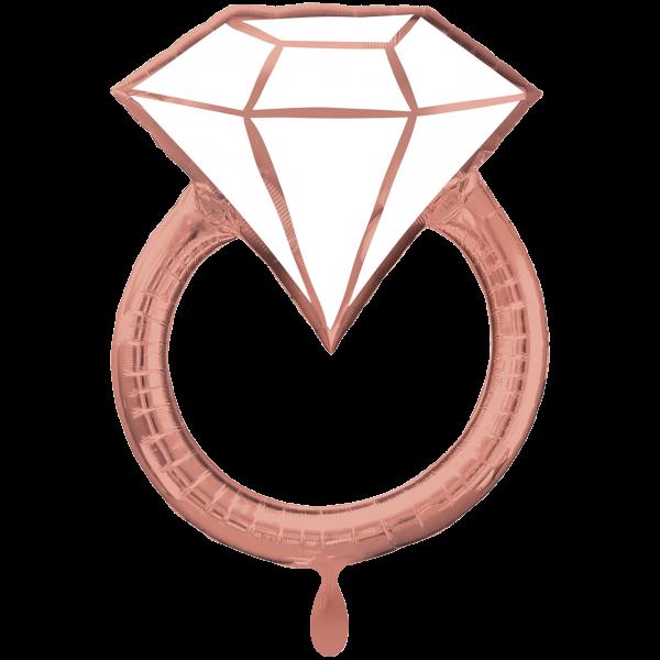 1 Ballon XXL - Blush Wedding Ring
