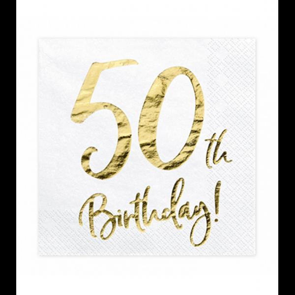 20 Servietten Trend - 33cm - 50th Birthday