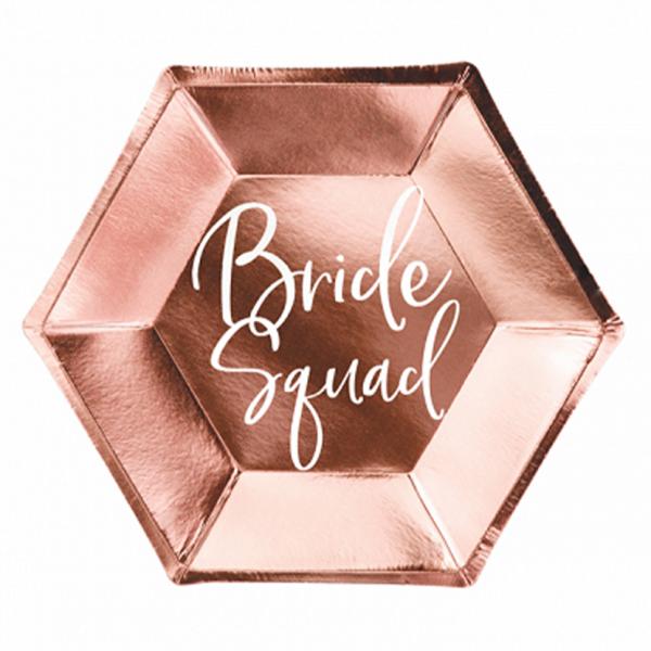 6 Pappteller Trend - Ø 23cm - Bride Squad