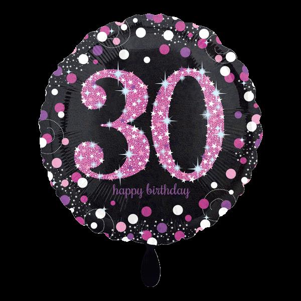 1 Ballon - Pink Celebration 30
