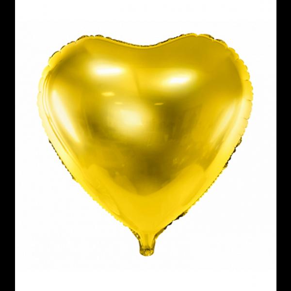 1 Ballon - Herz - Gold