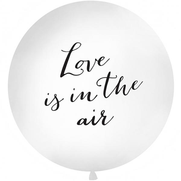 1 Riesenballon - Ø 1m - Love is in the air - Black