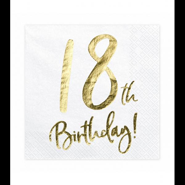 20 Servietten Trend - 33cm - 18th Birthday