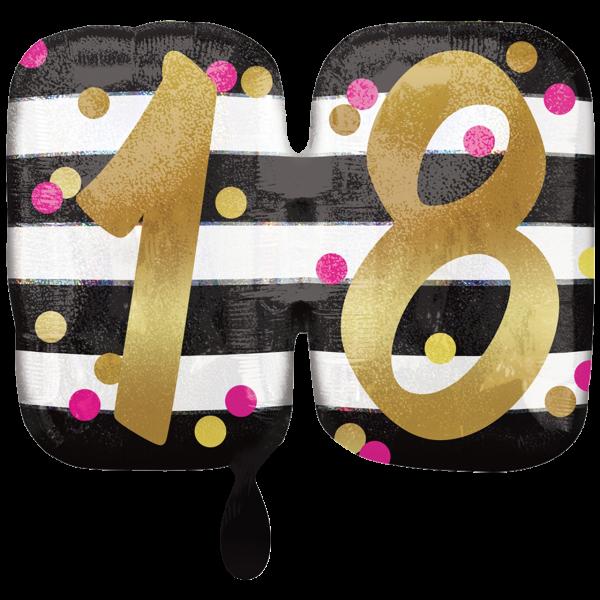 1 Ballon XXL - Pink & Gold Milestone 18