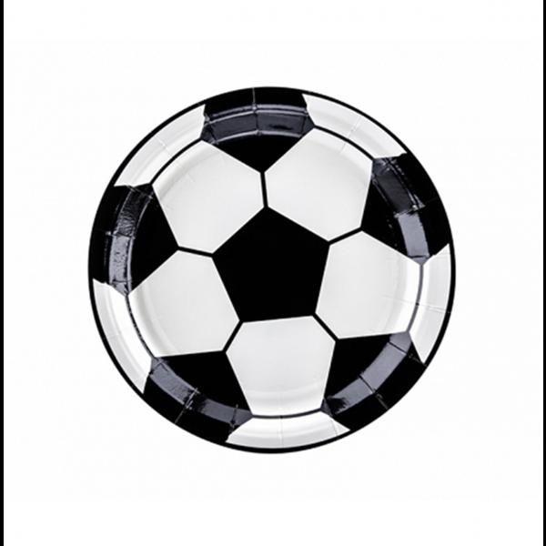 6 Pappteller Trend - Ø 18cm - Football