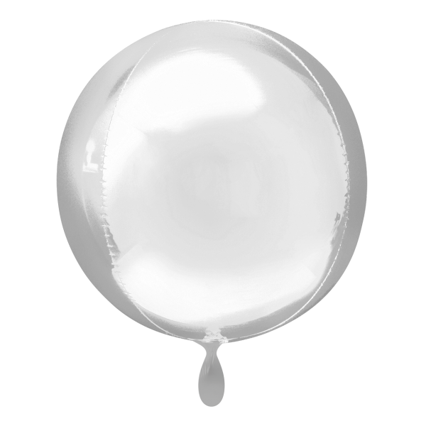 1 Ballon - Orbz - Silber