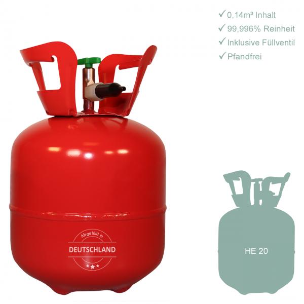 1 Heliumbehälter 20 - Helium für Luftballons - 0,14m³