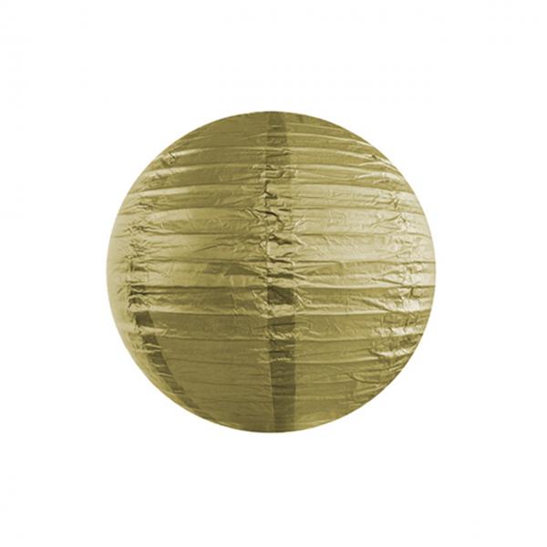1 Lampion - Ø 25cm - Gold