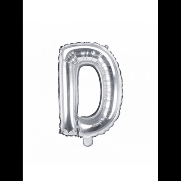 1 Ballon XS - Buchstabe D - Silber