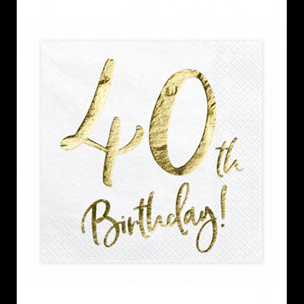 20 Servietten Trend - 33cm - 40th Birthday