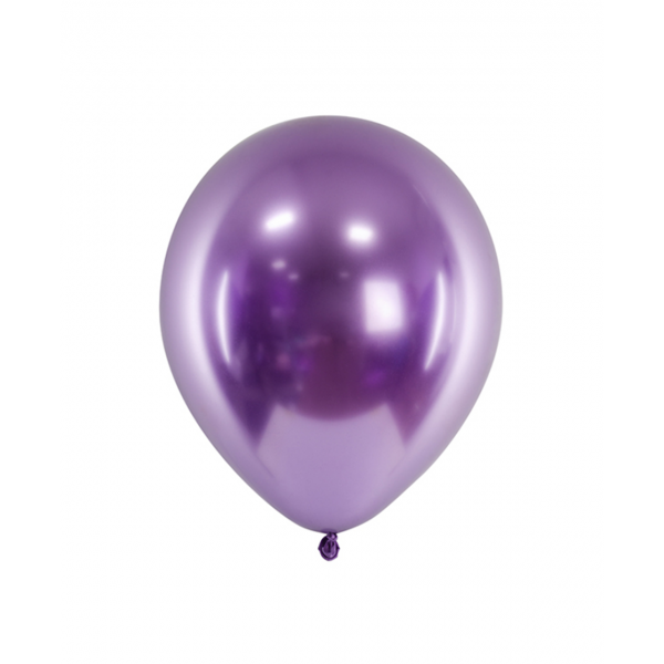 50 Luftballons - Ø 27cm - Glossy - Violett