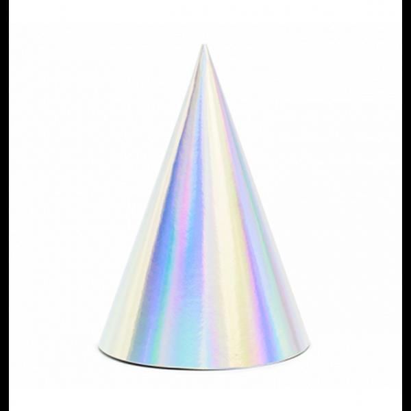 6 Partyhüte - Iridescent