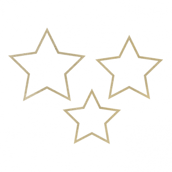 1 Dekoset - Hanging - Mixed Stars - Gold
