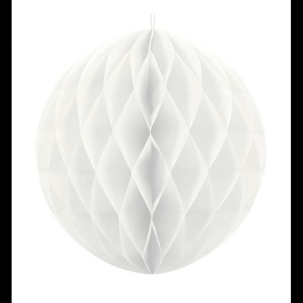 1 Wabenball XXL - Ø 30cm - Weiß