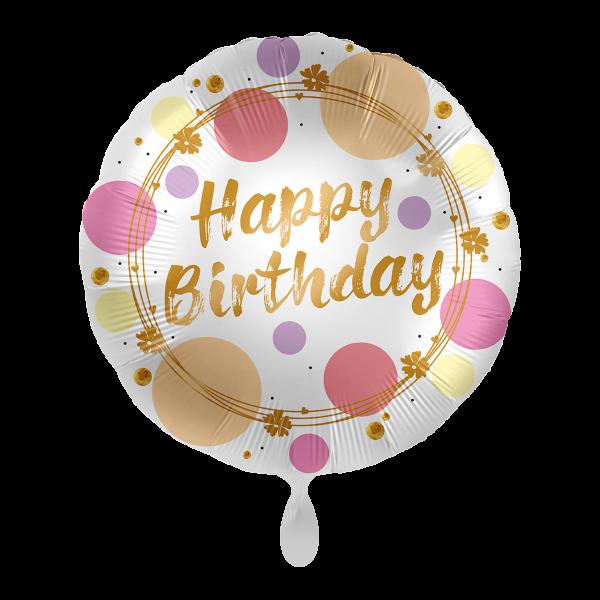 1 Ballon - Shiny Dots Birthday