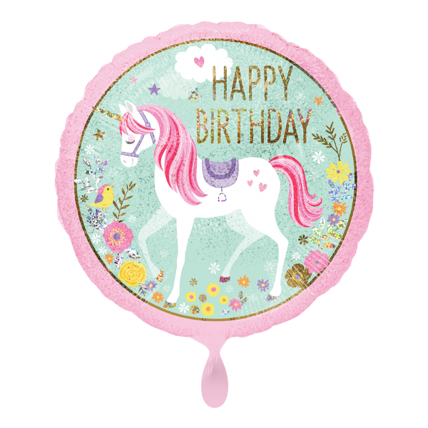 1 Ballon - Magical Unicorn Happy Birthday