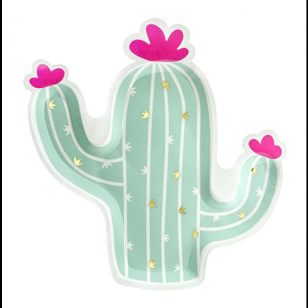 6 Pappteller Trend - Ø 24cm - Cactus