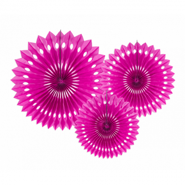 Dekofächer - 3er Set - Pink