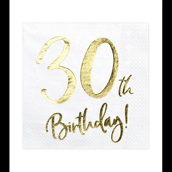 20 Servietten Trend - 33cm - 30th Birthday