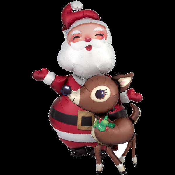 1 Airwalker - Santa & Reindeer