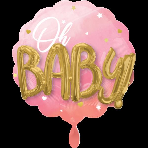 1 Ballon - Pink Baby Girl - Ø 71cm
