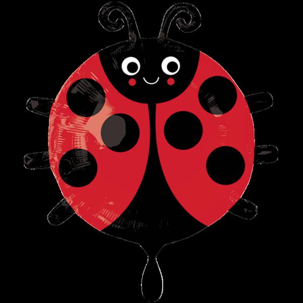 1 Ballon - Happy Ladybug