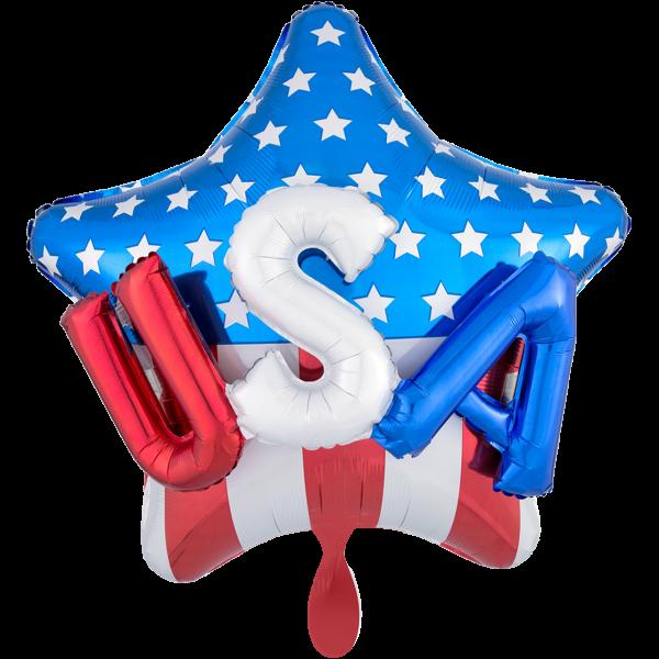 1 Ballon XXL - USA on Stars & Stripes
