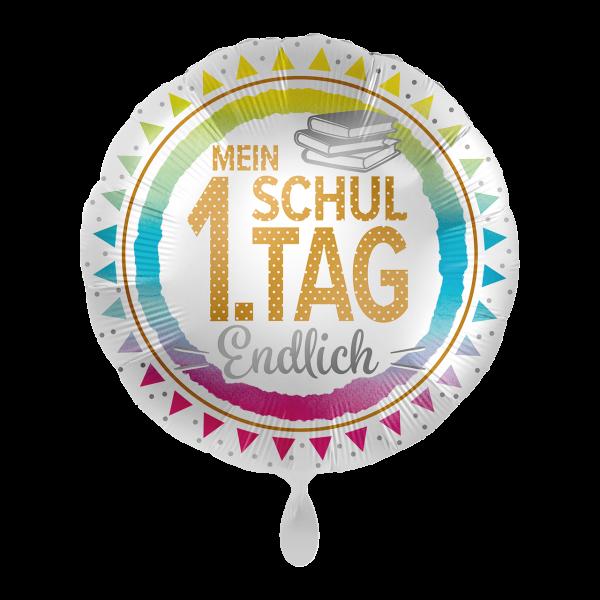 1 Ballon - Mein 1. Schultag - Endlich