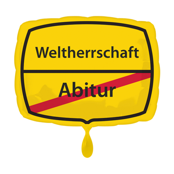 1 Ballon - Abitur - Weltherrschaft