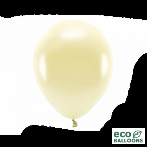 100 ECO-Luftballons - Ø 30cm - Metallic - Straw