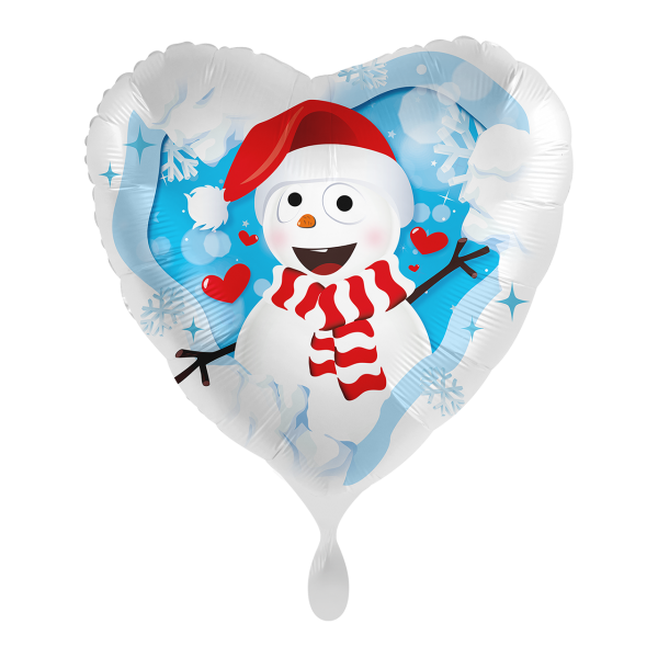 1 Ballon - Happy Snowman