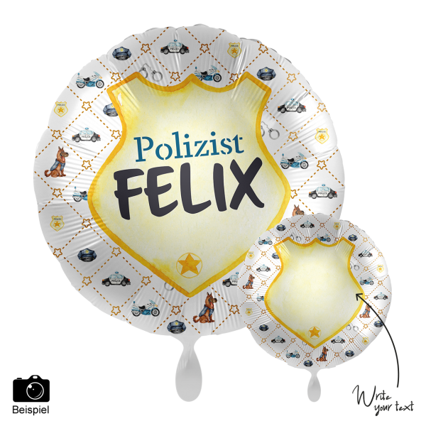 1 Ballon - Personalize IT - Police Academy