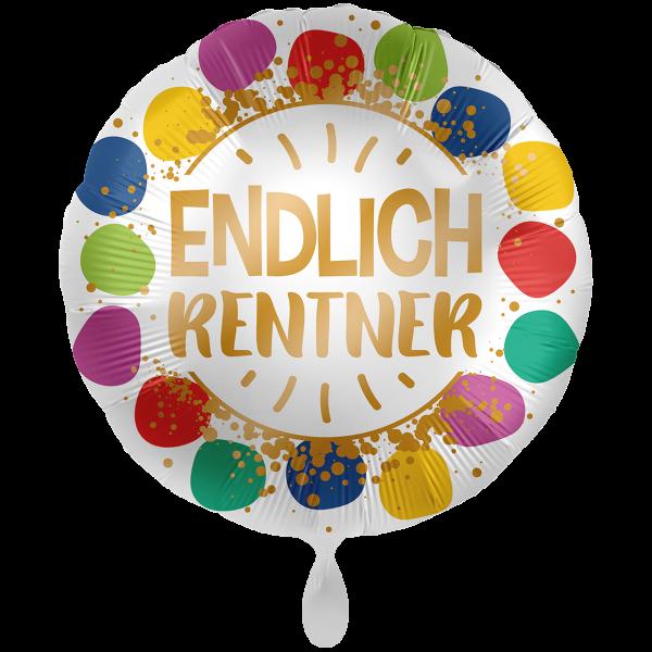 1 Ballon XXL - Endlich Rentner