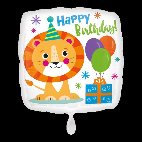 1 Ballon - Happy Lion Birthday