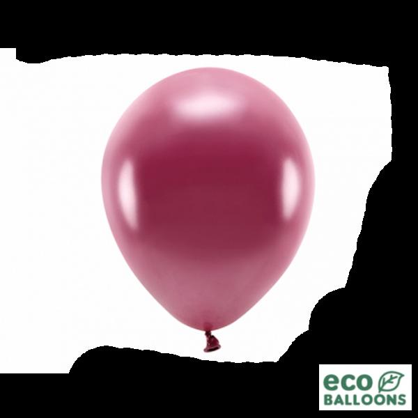 100 ECO-Luftballons - Ø 26cm - Metallic - Deep Red