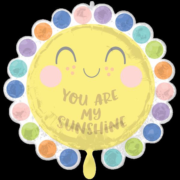 1 Ballon XXL - Dot Baby Circle