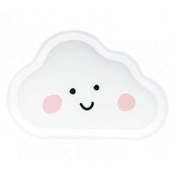 6 Pappteller Trend - Ø 26cm - Cloud