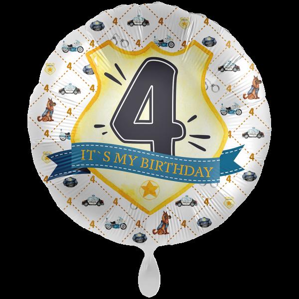 1 Ballon XXL - Police Academy - Vier
