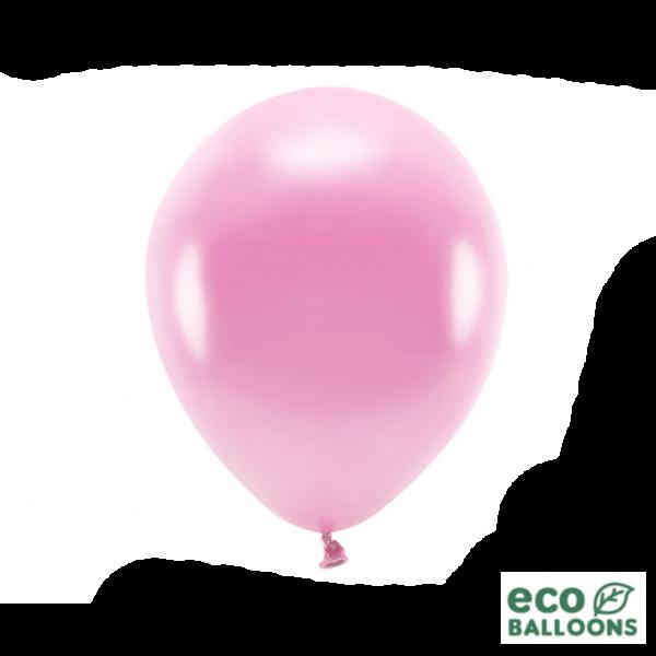 10 ECO-Luftballons - Ø 30cm - Metallic - Pink (Rosa)
