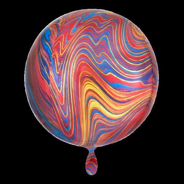 1 Ballon - Orbz - Colorful Marblez
