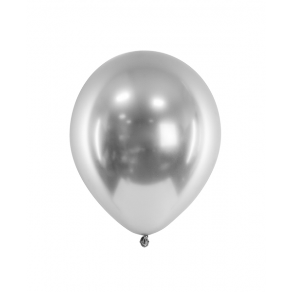 50 Luftballons - Ø 27cm - Glossy - Silber
