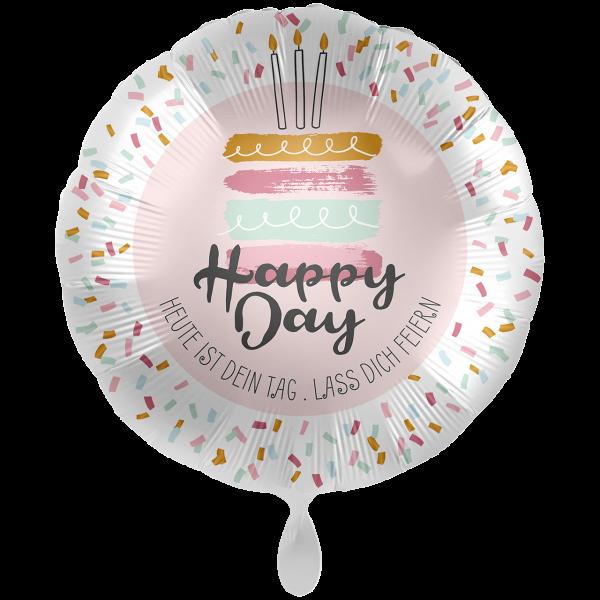 1 Ballon XXL - Happy Day Cake