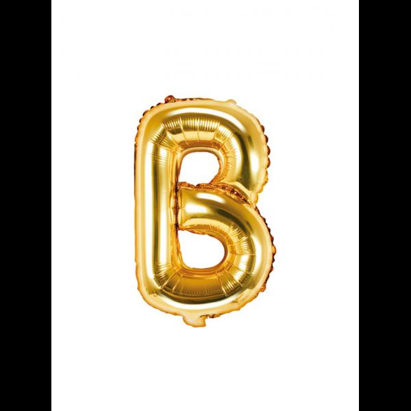 1 Ballon XS - Buchstabe B - Gold
