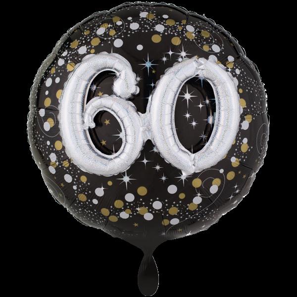 1 Ballon XXL - Sparkling Birthday 60