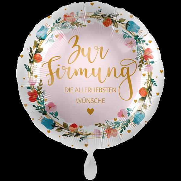 1 Ballon XXL - Zur Firmung Floral