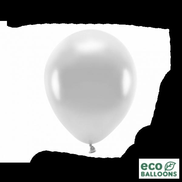 10 ECO-Luftballons - Ø 26cm - Metallic - Silver