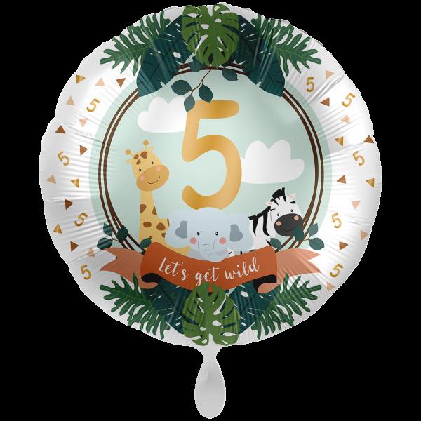 1 Ballon XXL - Jungle Friends - Fünf