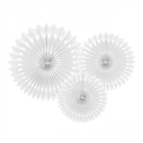 Dekofächer - 3er Set - Weiß