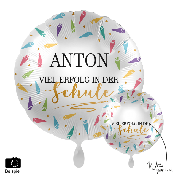 1 Ballon - Personalize IT - Viel Erfolg in der Schule
