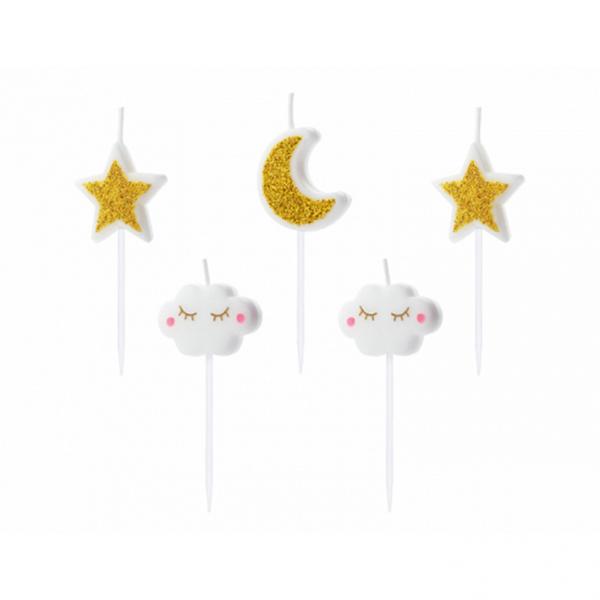 5 Kuchenkerzen - Little Star
